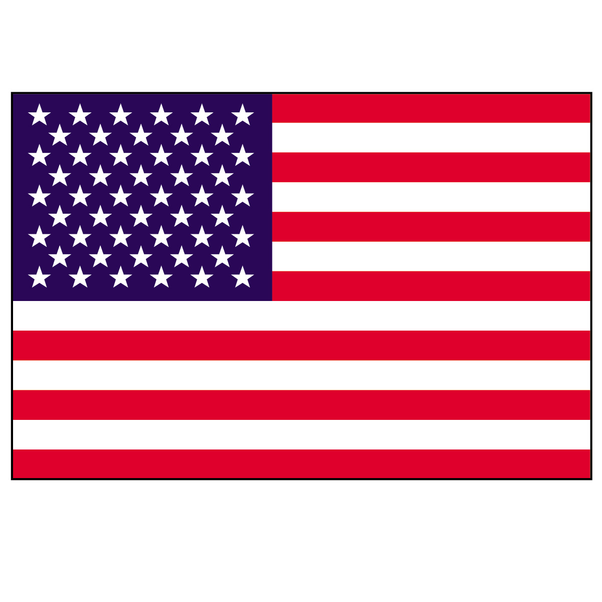 1200x1200 American Flag Clipart America