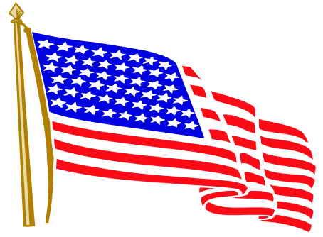 454x334 Waving American Flag Vector