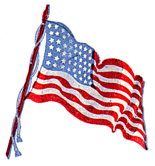 500x535 Waving Us Flag Clipart