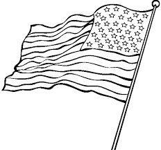232x217 Waving American Flag Stencil