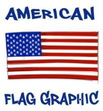 205x221 American Flag Graphics