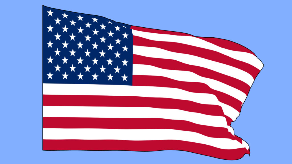 1024x576 Flag Waving On Wind
