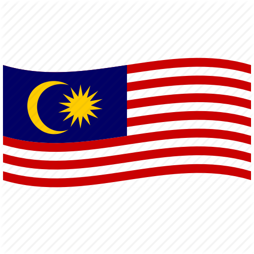 512x512 Gemilang, Jalur, Malaysia, Malaysian Flag, My, Waving Flag Icon