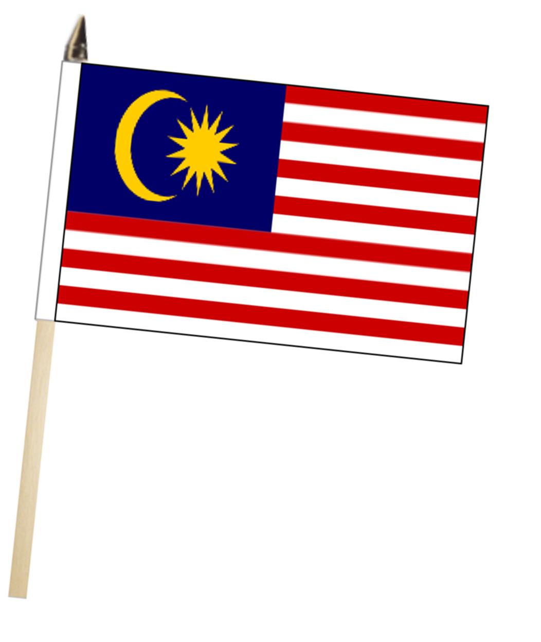 1052x1247 Malaysia Large Hand Waving Flag