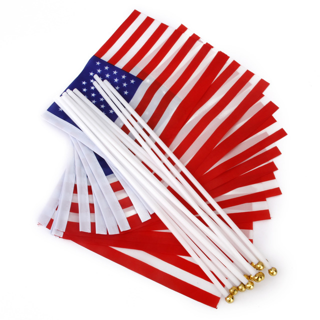 640x640 New Hot Sale American Usa United Kingdom Uk Hand Waving Flag Mini