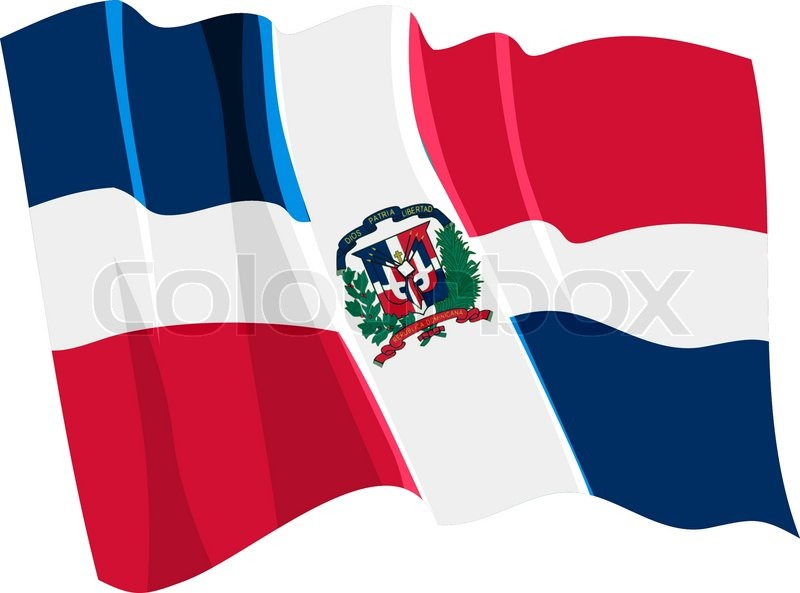 800x593 Political Waving Flag Of Dominican Republic Stock Vector Colourbox