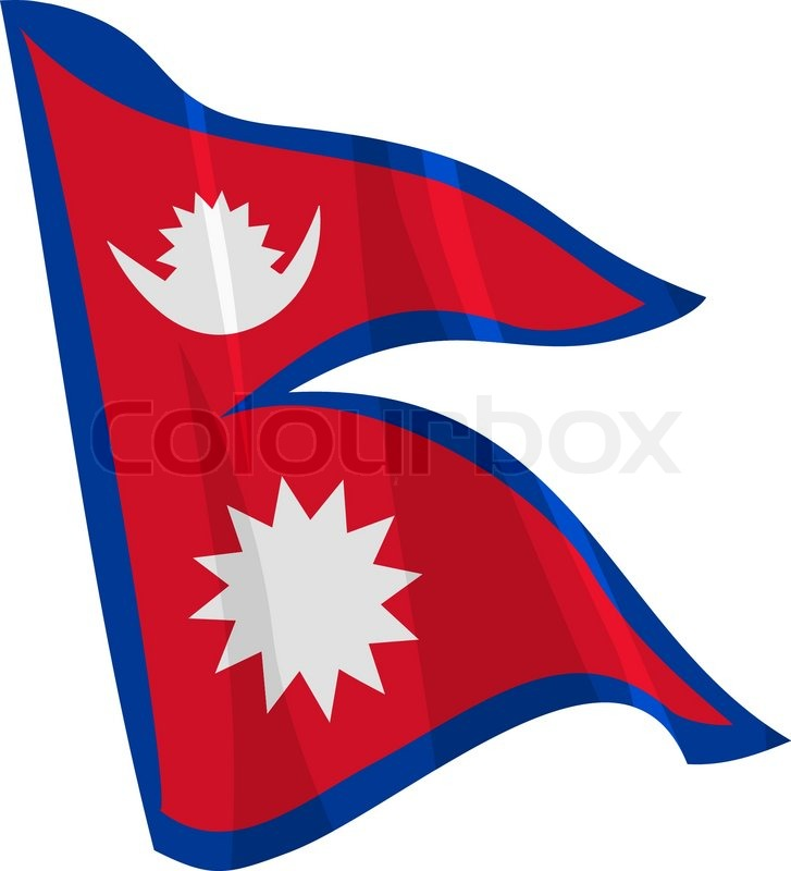 727x800 Political Waving Flag Of Nepal Stock Vector Colourbox