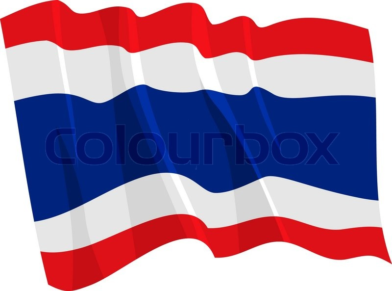 800x593 Political Waving Flag Of Thailand Stock Vector Colourbox