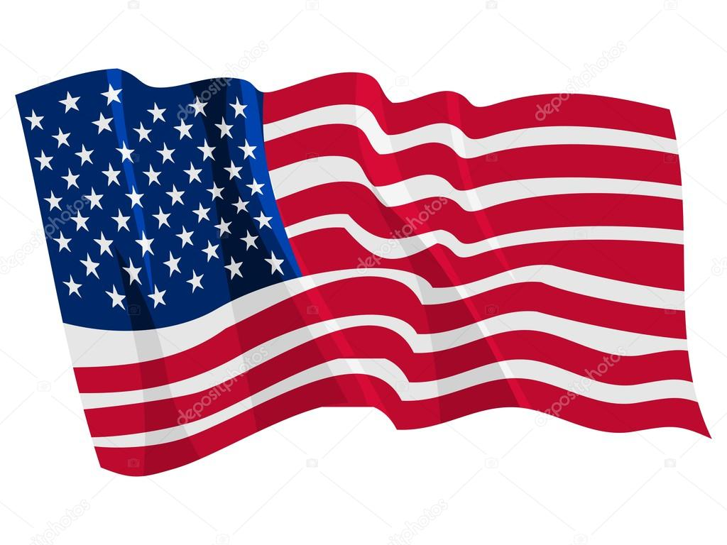 1024x768 Political Waving Flag Of United States Stock Vector Perysty
