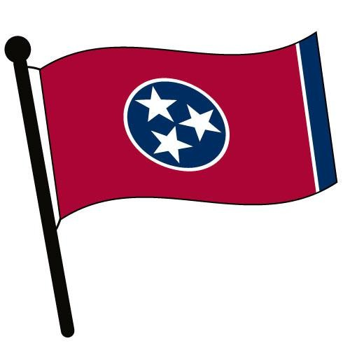 500x500 Tennessee Waving Flag Clip Art