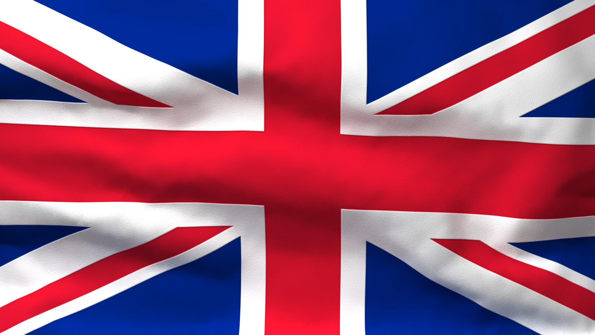 1920x1080 Waving Flag Of Great Britain
