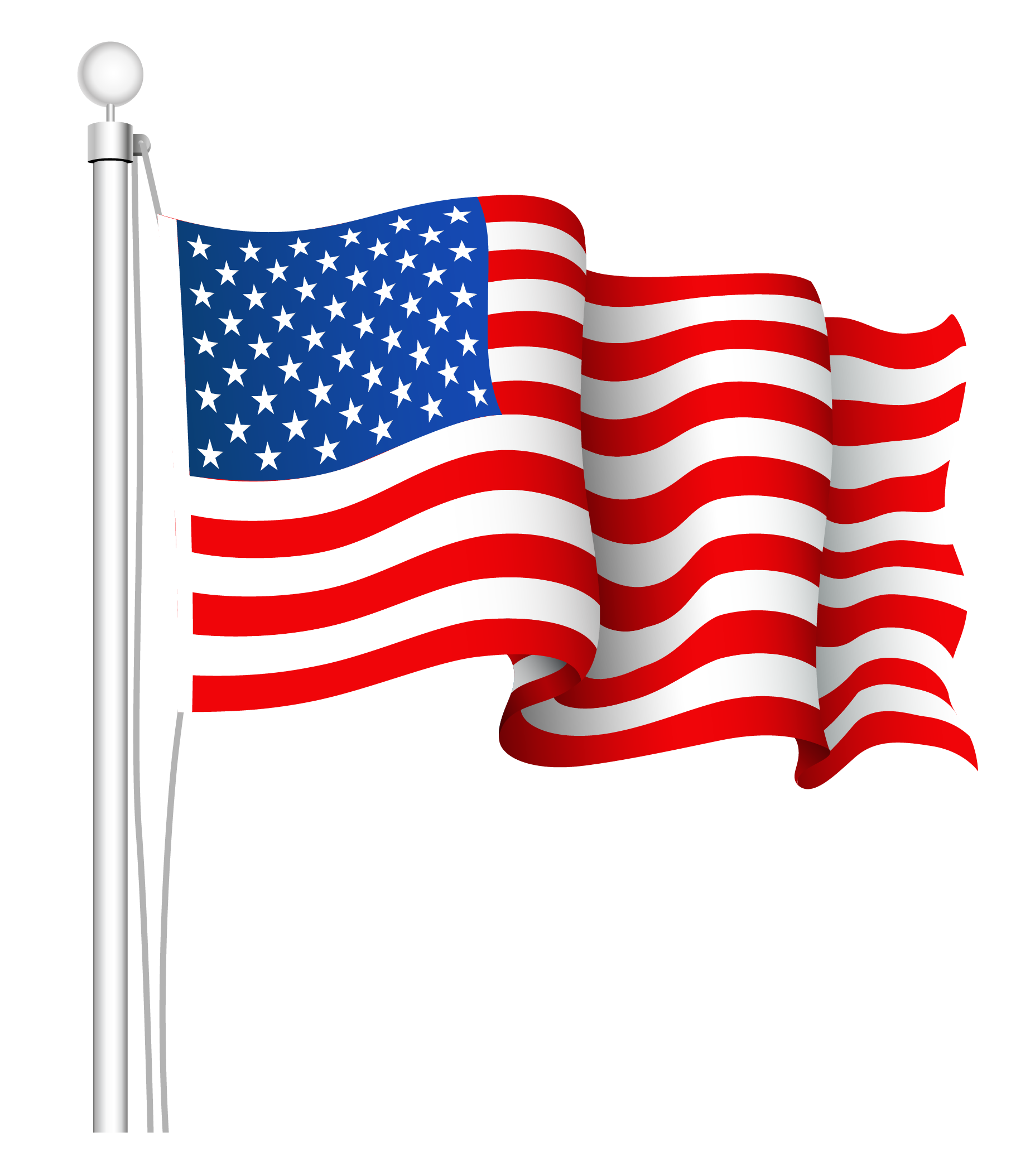 1855x2108 America Clipart Waving Flag