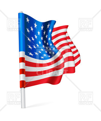 334x400 Waving Flag Of The Usa The Flag Pole Royalty Free Vector Clip Art