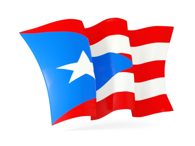 640x480 Waving Flag. Illustration Of Flag Of Puerto Rico