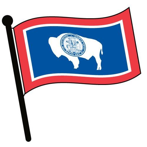 500x500 Wyoming Waving Flag Clip Art