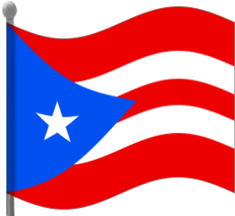263x242 Puerto Rico Flag Waving