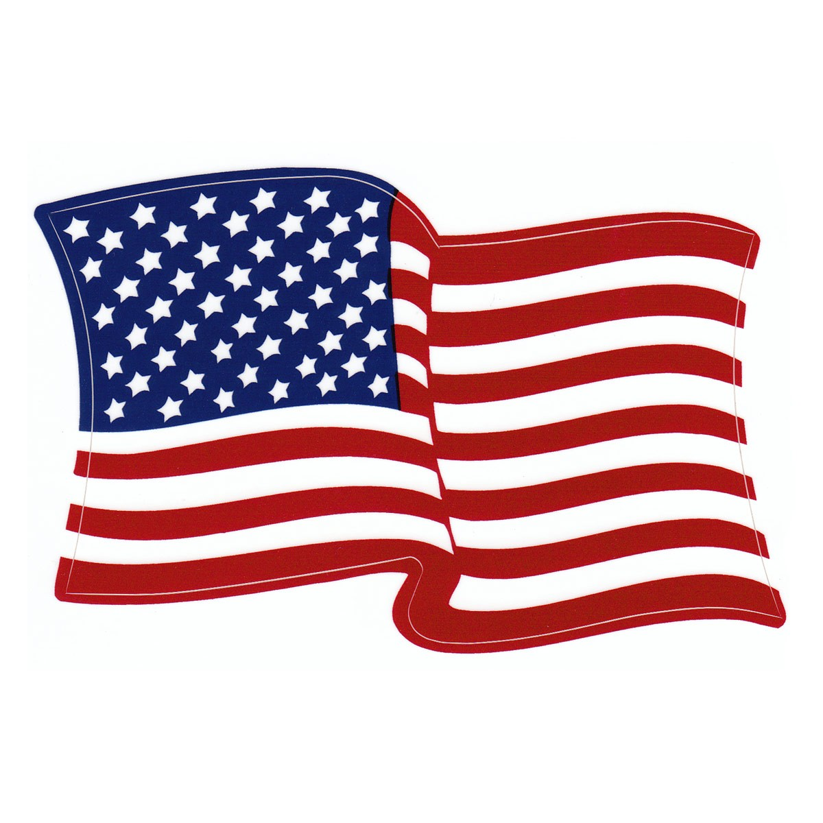 1200x1200 American Waving Flag Vinyl Decal