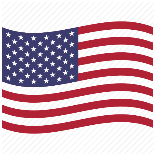 512x512 American Flag, North America, United States, Us, Usa, Waving Icon