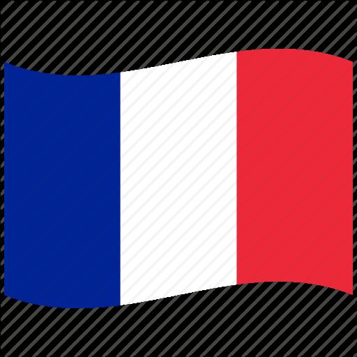 512x512 Fr, Franc, France, French Flag, Paris, Red, Waving Flag Icon