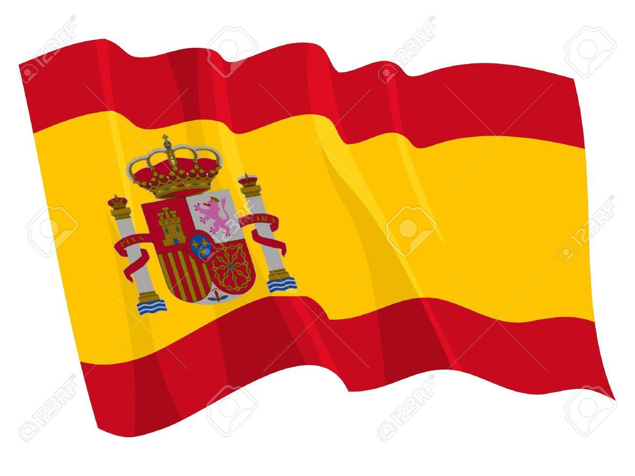 1300x975 Political Waving Flag Of Spain Royalty Free Cliparts, Vectors,