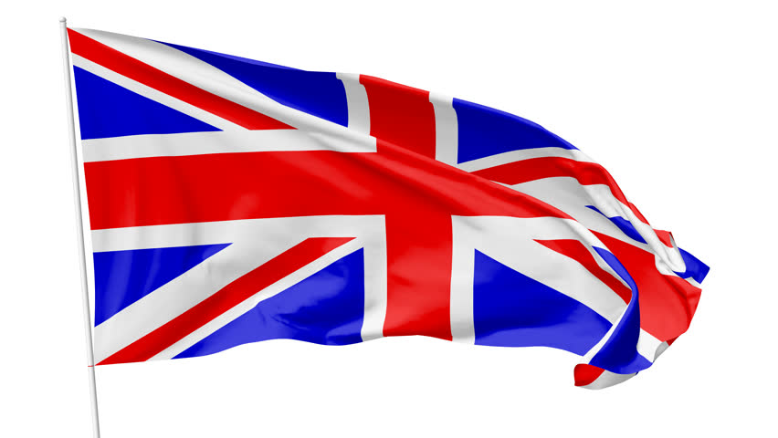 852x480 British Flag Clipart Animated