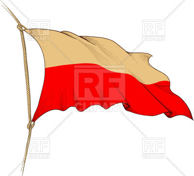 400x363 Engraved Old Waving Flag Of Poland Royalty Free Vector Clip Art