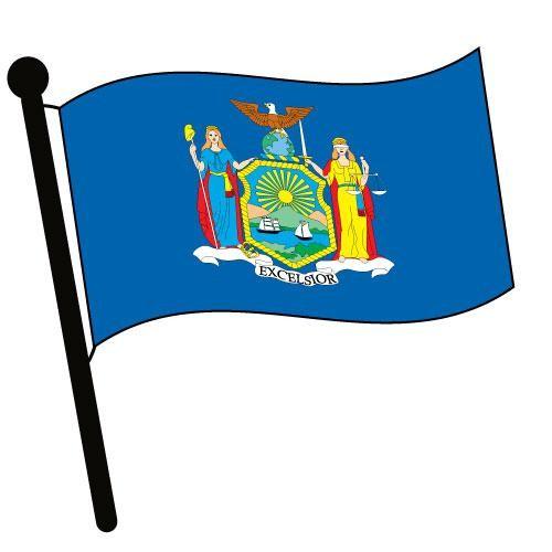 500x500 New York Waving Flag Clip Art