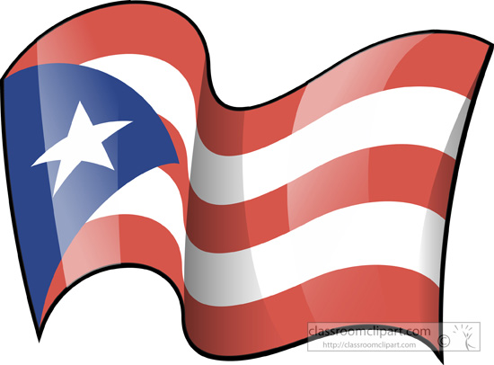 550x406 State Flags Clipart Puerto Rico State Flag Waving Clipart