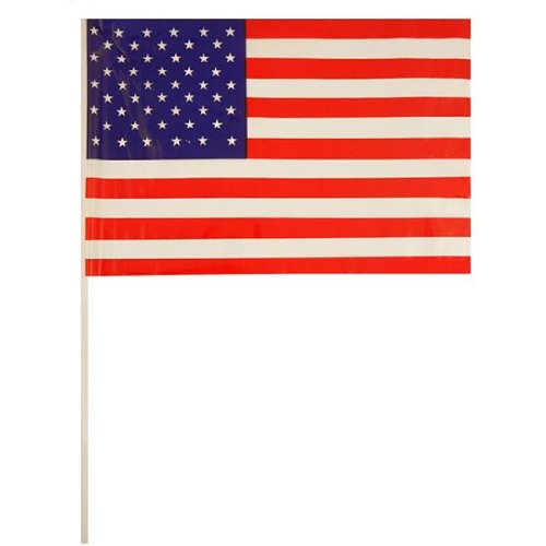 500x500 United States Handheld Waving Flag