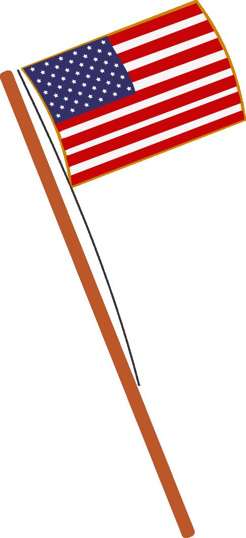 486x1061 Waving American Flag Vector