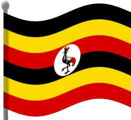 263x242 Uganda Flag Waving