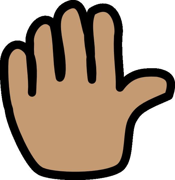 582x599 Hand Wave Clip Art