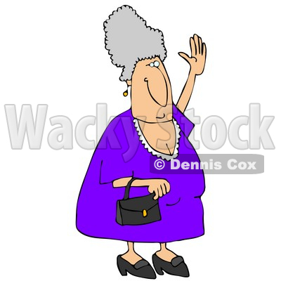 400x400 Woman Trying To Wave Down A Taxi Clipart Illustration Djart