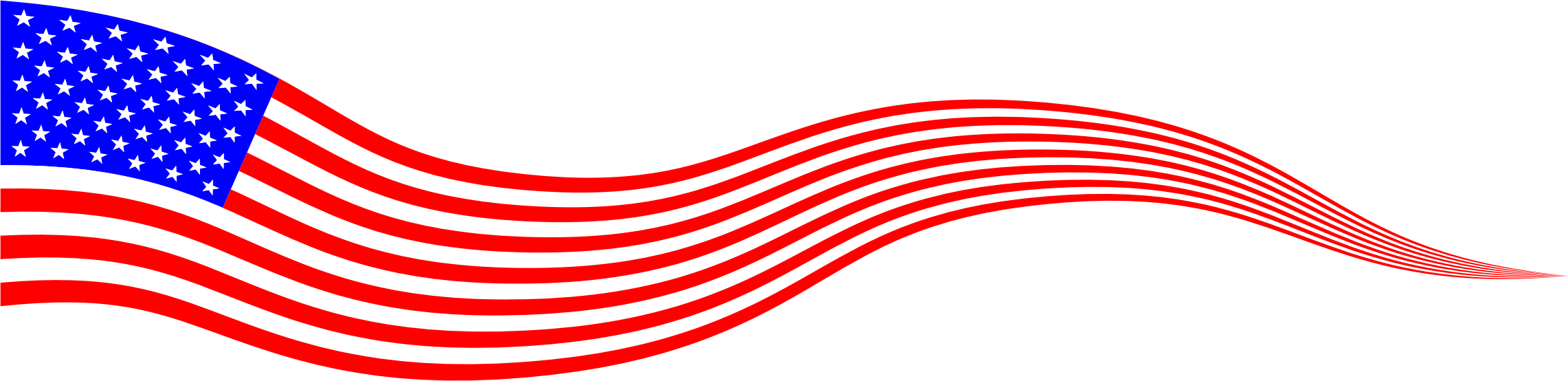 2281x554 Wavy Usa Flag Banner By @gdj, Wavy Usa Flag Banner,