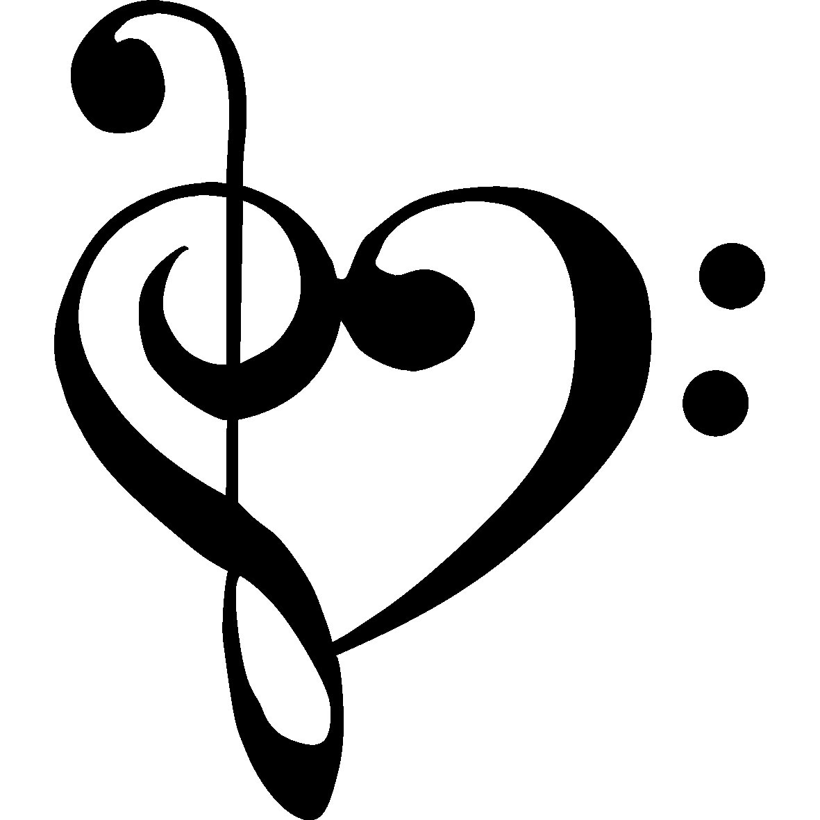 1181x1181 Music Notes Heart Clipart (55+)