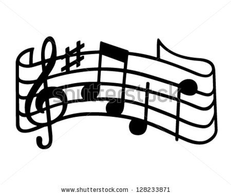 450x380 Music Notes clipart stave