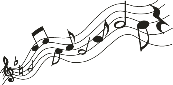 589x289 Music Notes clipart wavy