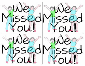 300x231 Missed You In Class Clipart