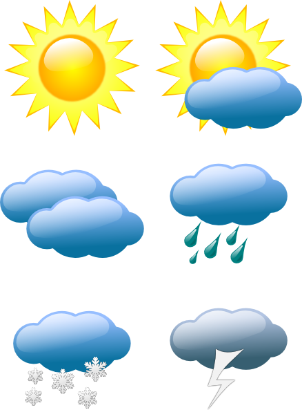 438x593 Weather Symbols Clip Art