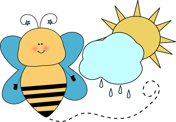 599x415 Bee Classroom Weather Monitor Clip Art