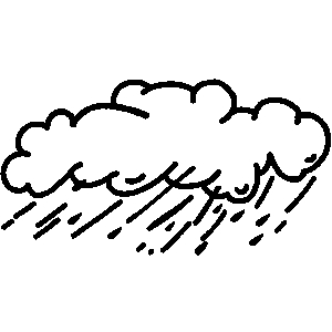 300x300 Cloud Black And White Rain Cloud Clipart Black And White