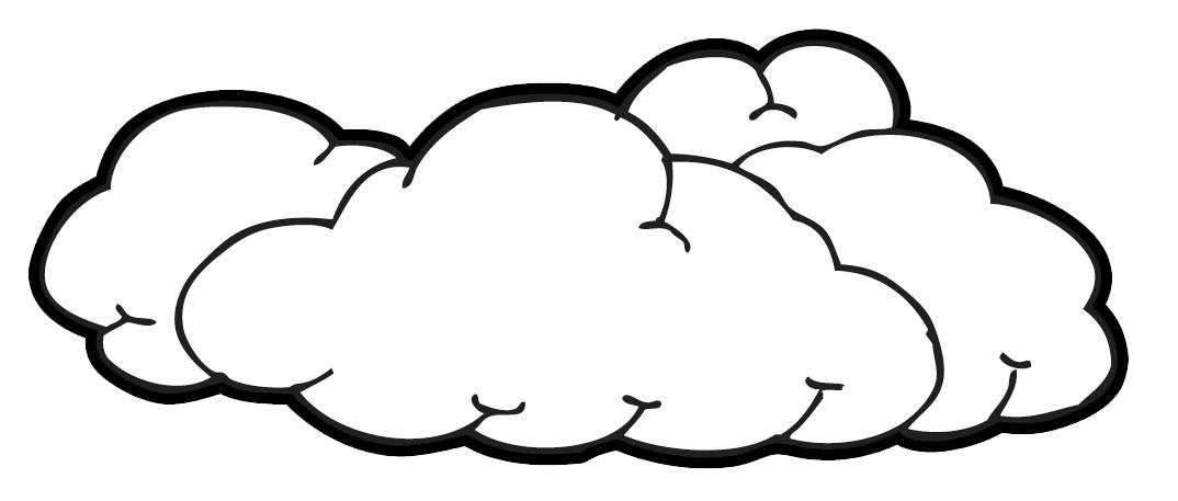 1074x457 Clouds Clipart Black N White