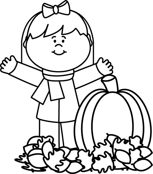 520x592 Fall Weather Clipart Black And White