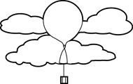 190x121 Free Black And White Weather Outline Clipart
