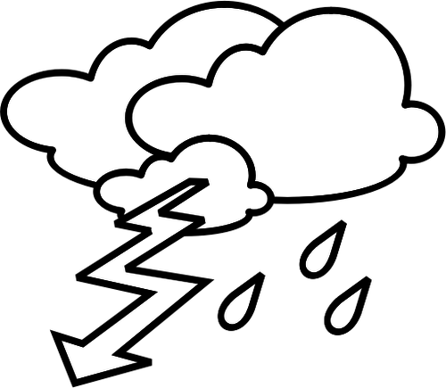 500x435 Outline Weather Forecast Icon For Thunder Vector Clip Rt Public