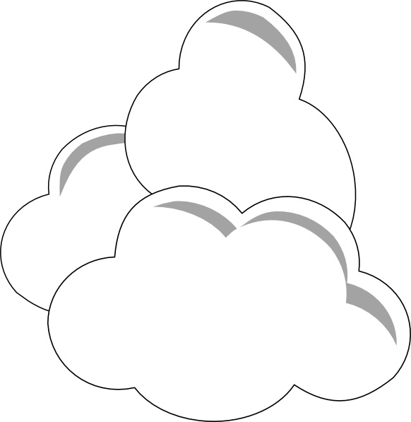582x597 Weather Clouds Clip Art Free Vector In Open Office Drawing Svg