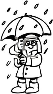 171x300 Rainy Weather Clipart Black And White