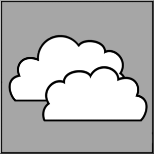 304x304 Clip Art Weather Icons Cloudy Grayscale Unlabeled I