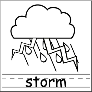 304x304 Clip Art Weather Icons Storm Bampw Labeled I Abcteach