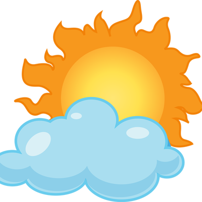 400x400 Cloudy Weather Clipart